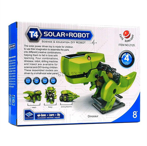 Zenith Toys Solar Powered 4-in-1 DIY robots (ZT-014)