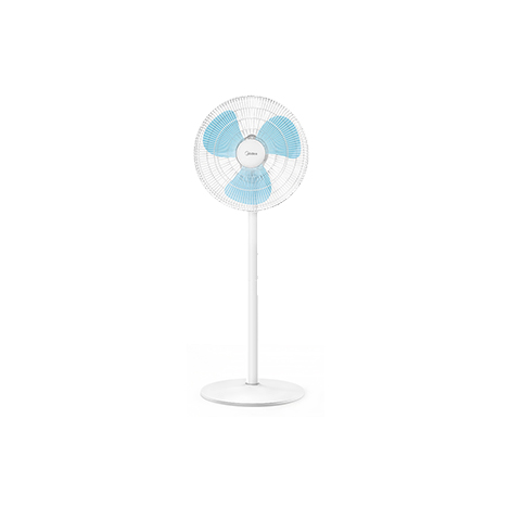 MIDEA Household Electric Floor Vertical Stand Fan Silent Mute Mode three-leaf mechanical stand fan (SAB40A)