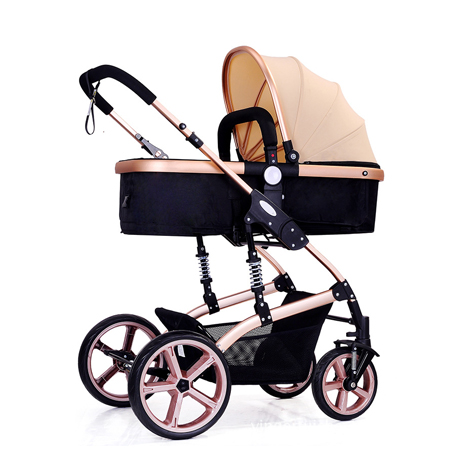 High View Baby Stroller Trolley Foldable Two-Way Carriage Anti-Shock (JX562)
