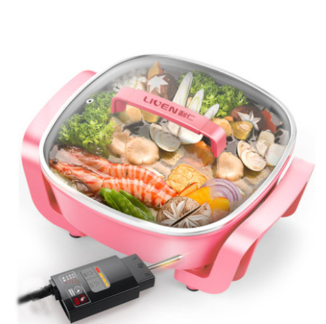 LIVEN Korean Household Electric Hot Pot Cooker, Pink (DHG-T2600F)