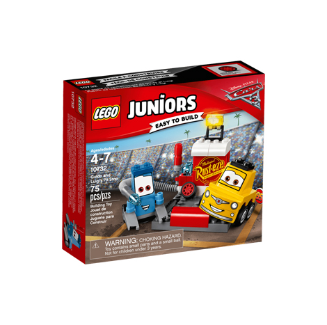 LEGO JUNIORS GUIDO AND LUIGI'S PIT STOP 75PCS/PZS (4-7AGE/EDADES) (10732)