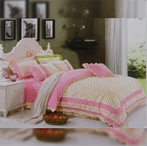 Amazing One Yellow+Pink Bedsheet Set