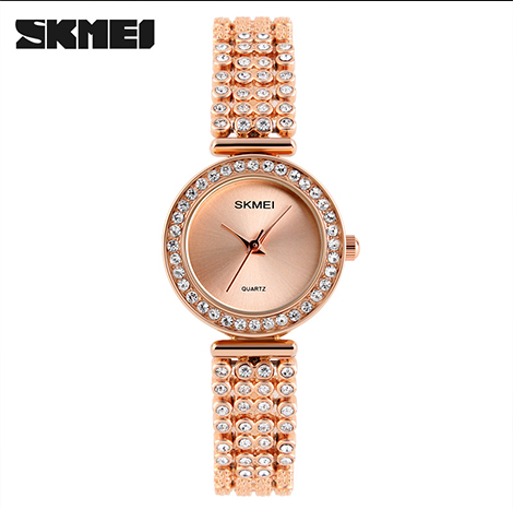 SKMEI FORMAL QUARTZ PAVE DIAMOND WOMEN'S WATCH (1224)