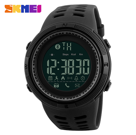 SKMEI Multi-functional Bluetooth Smart With Calories Pedometer Reminder Sport Men's Watch (1250)
