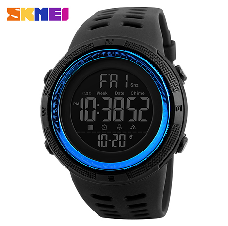 SKMEI Digital 50m Depth Waterproof Men's Sport Watch (1251)