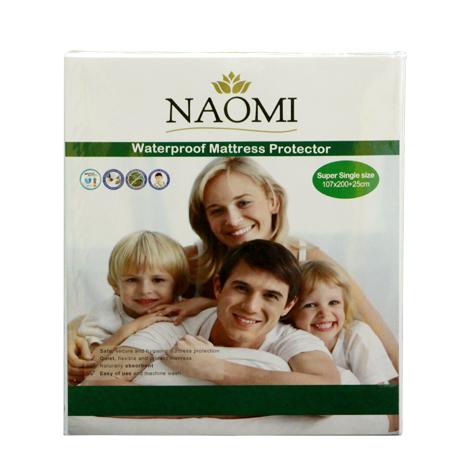 Naomi Waterproof Mattress Protector (Single)
