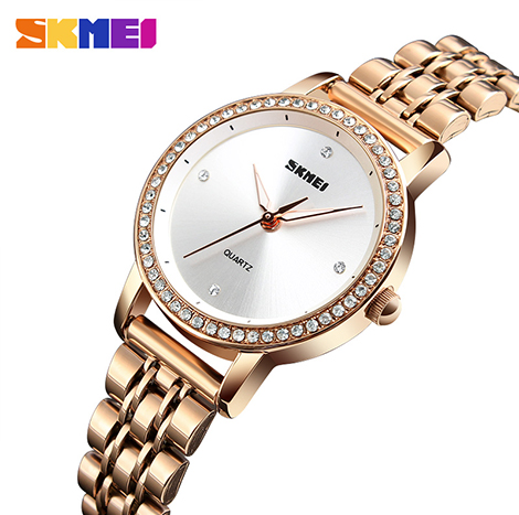 SKMEI FORMAL QUARTZ PAVE DIAMOND WOMEN'S WATCH (1311)