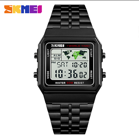SKMEI Multi-functional EL Luminous Depth Waterproof Digital Sport Men's Watch (1338)