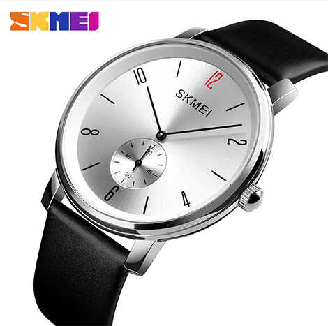 SKMEI Genuine Leather Band Quartz Men's Watch (1398)
