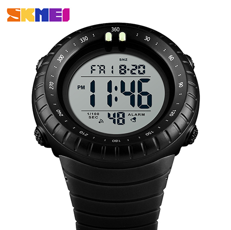 SKMEI Luminous Dual Time Chronograph 50m Depth Waterproof Digital Men's Watch (1420)