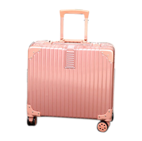 18 Inches Vintage Aluminum Frame PC Travel Trolley Suitcase TSA Custom Lock (L1610-2)