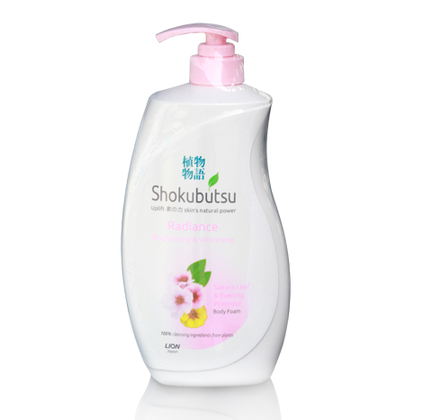 SHOKUBUTSU Radiance Brightening & Whitening Body Foam ( 900ml )