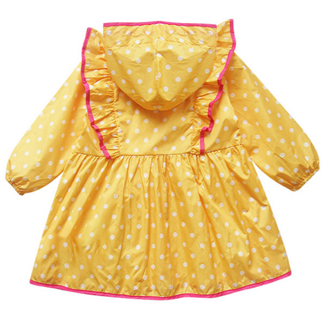 Yellow Pokka Dot Raincoat ( SMCR002Y )