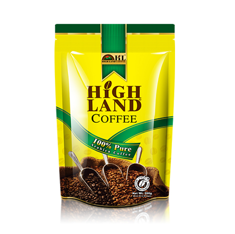 High Land Coffee is 100% pure Arabica