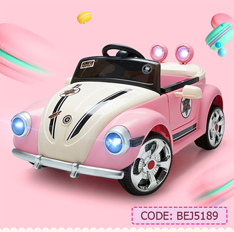 Princess Electric Remote Children's 1-4 YRS Four-wheel LED lights Music Leather Seat Battery Car (BEJ5189)