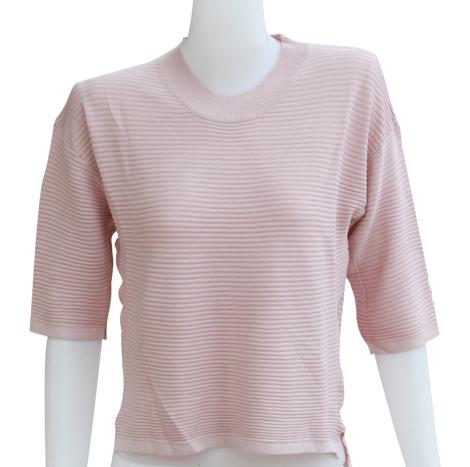 VKK Three-Quarter Sleeve Peach Dress ( AZ368121 )