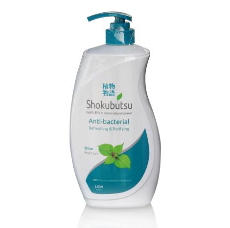 SHOKUBUTSU Anti-Bacterial Refreshing & Purifying Body Foam ( 900ml )