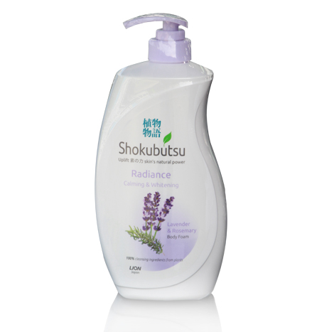 SHOKUBUTSU Radiance Calming & Whitening Body Foam ( 900ml )