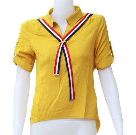 VKK Short Sleeve Shirt with Ribbon ( AC366136 )
