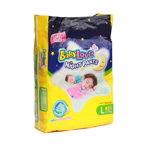 BABYLOVE NIGHT PANTS (JUMBO PACK)