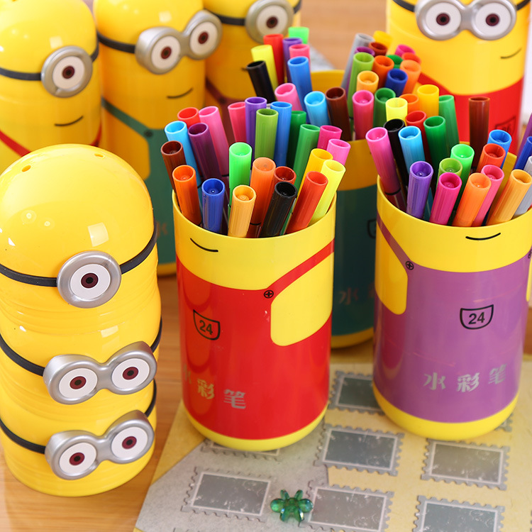 Minions Design Children's Watercolor Pen Set Package ( 348945)