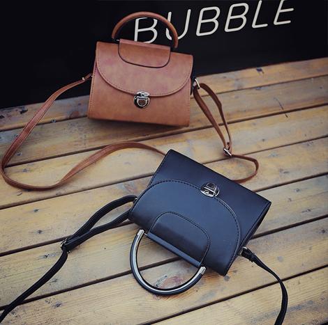Korean Style Retro Vintage Shoulder Bag Pink (KRV788)
