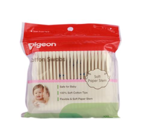 PIGEON Cotton Swabs 100 Pcs/Plastic Pack ( PSL-C013473 )