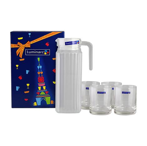 LUMINARC QUADRO & ISLANDE DRINK SET 1.1LTR 5`S (L3340)