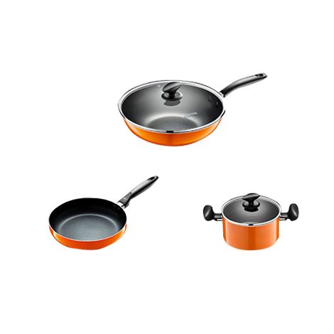 SUPOR Non Sticky Pot 3 Set (T1612E) - Orange