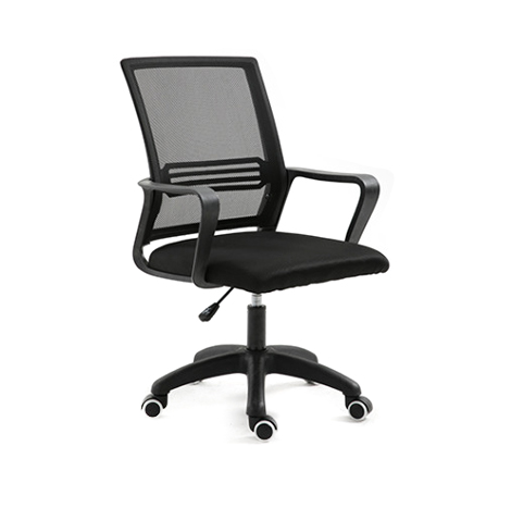 Office Coomputer Conference Wheel Chair Black, Black Mesh Net (ty006-Bk-Roung)