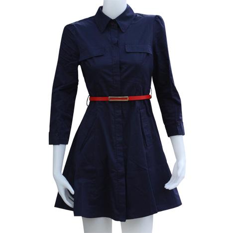 VKK Long Sleeve Shirtwaist Dress ( QL368143 )