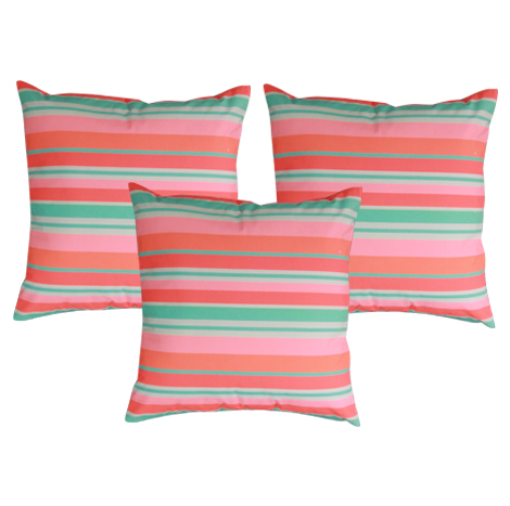 "Vibrant Glow Cushion Cover 18""x18""- 3 Pieces"