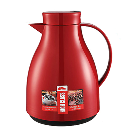 DAYDAYS Household 24 Hours Termal insulation glass liner thermos kettle, Red (WJ-100)