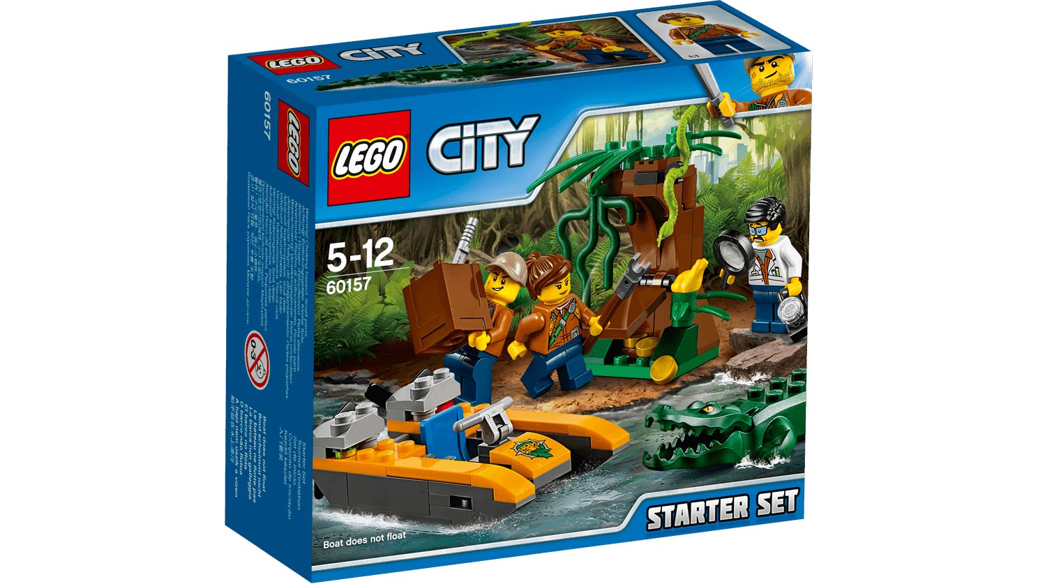 LEGO CITY JUNGLE STARTER SET 88PCS/PZS (5-12AGE/EDADES) 60157