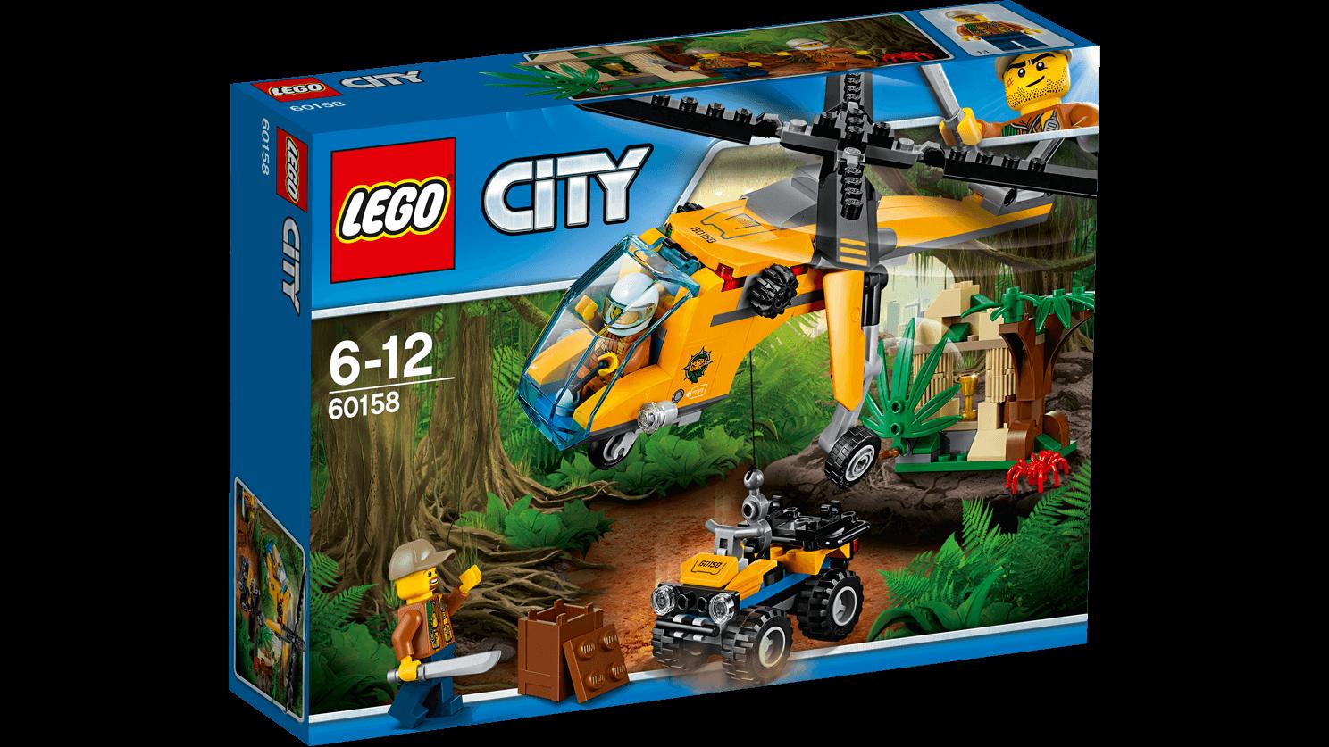 LEGO CITY JUNGLE CARGO HELICOPTER 201PCS/PZS (6-12AGE/EDADES) 60158