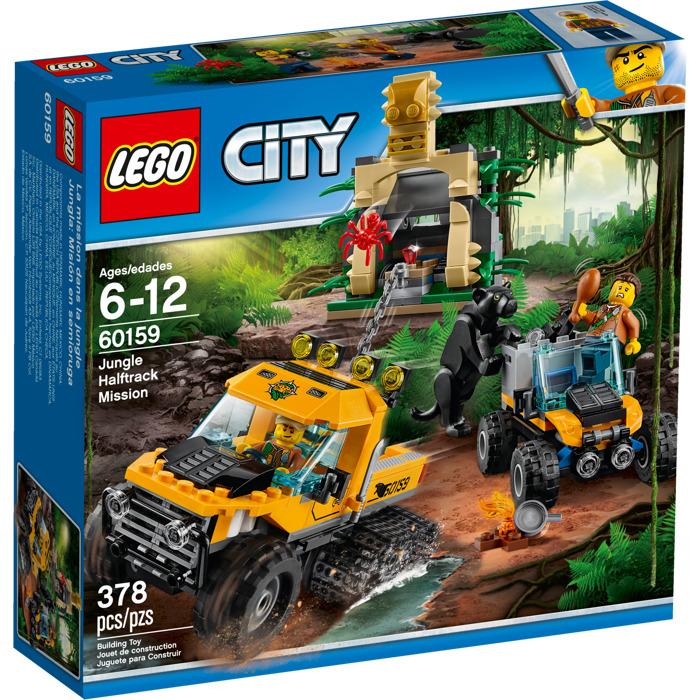 LEGO CITY JUNGLE HALFTRACK MISSION 378PCS/PZS (6-12AGE/EDADES) 60159