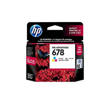 HP 678 Tri-color Ink Cartridge (~150 Pages)