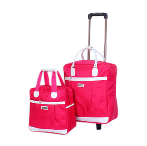 Foldable Nylon Trolley Crystal Wheel 2PC Set (MC-737)