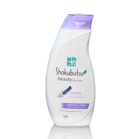 SHOKUBUTSU Soothing Body Foam Lavender & Rosewood ( 200ml )