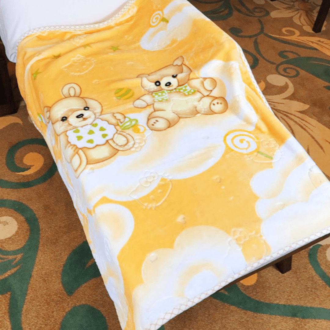 Yellow Cartoon Delicate Baby Blanket