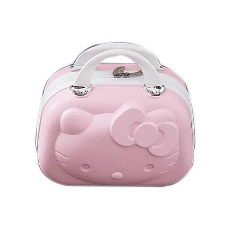 Hello Kitty 3D Mini Portable 14 Inch Cosmetic Make Up Travel Suitcase with Strap (A019HK)