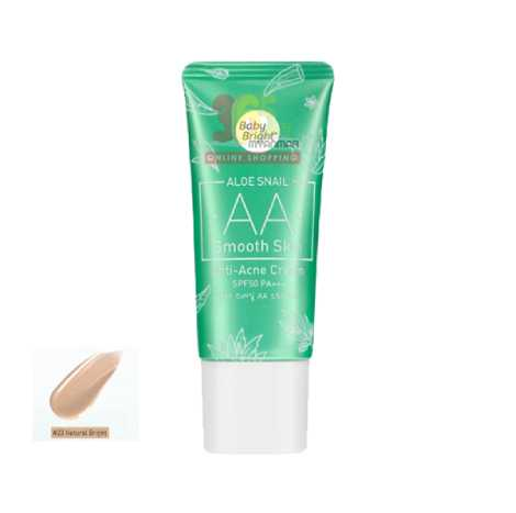 Baby Bright Aloe Snail AA Smooth Skin Anti-Acne Cream SPF50 PA+++ 30g #23