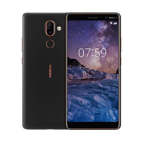 NOKIA 7 Plus (4GB, 64GB) ( TA-1046 ) Black Copper