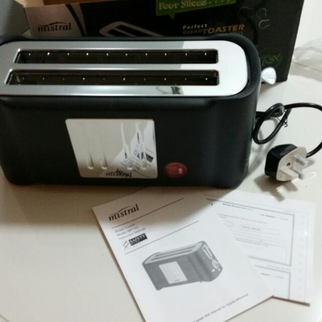 MISTRAL 4 Slices Bread Toaster ( MPT418 )