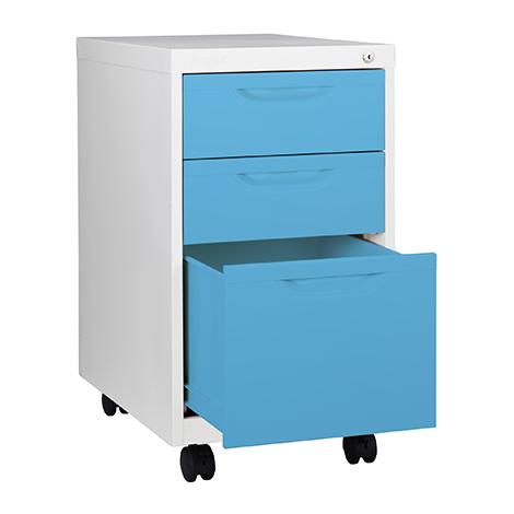 Kiosk 3 drawers mobile pedestal BS-503