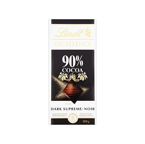 LINDT Excellence Extra Fine 90% Cocoa Dark Chocolate 100G ( 131303330100 )
