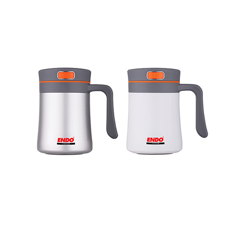 Endo 400ml Anti-Bacterial Double Stainless Steel Desk/Mug-Assorted - ( CX-1003 )