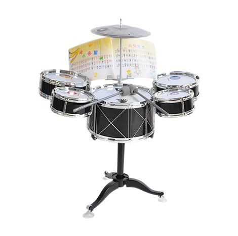 Children Kids Drum Set Musical Instrument Toy 5 Drums with Small Cymbal Stool Drum Sticks for Boys Girls (D586-108)