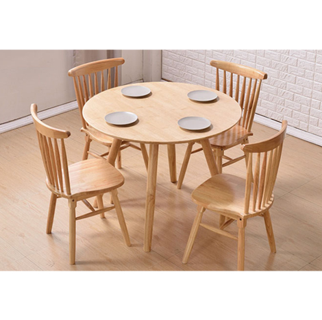 Nicco Local Rubber Dinning Table & Chairs Set (DTS-02)