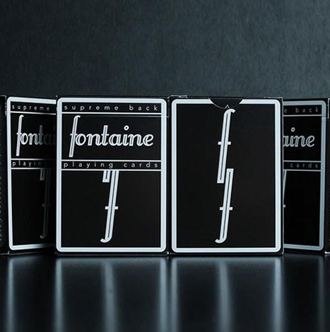 Fontaine Black Playing Card